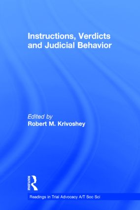 Instructions, Verdicts, and Judicial Behavior: 1st Edition (Hardback) book cover
