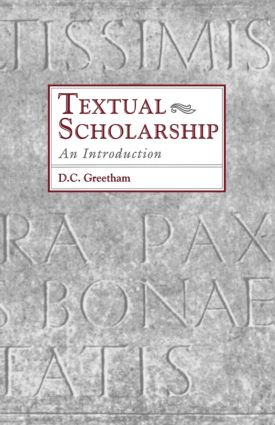 Textual Scholarship: An Introduction book cover