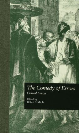 The Comedy of Errors: Critical Essays (Hardback) book cover