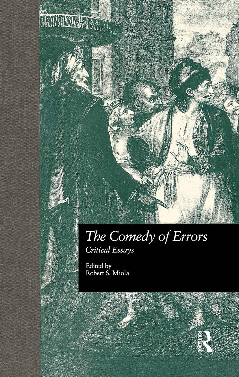 The Comedy of Errors: Critical Essays book cover
