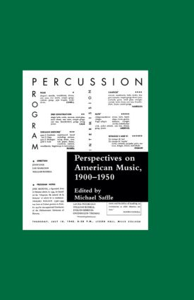 Perspectives on American Music, 1900-1950: 1st Edition (Hardback) book cover