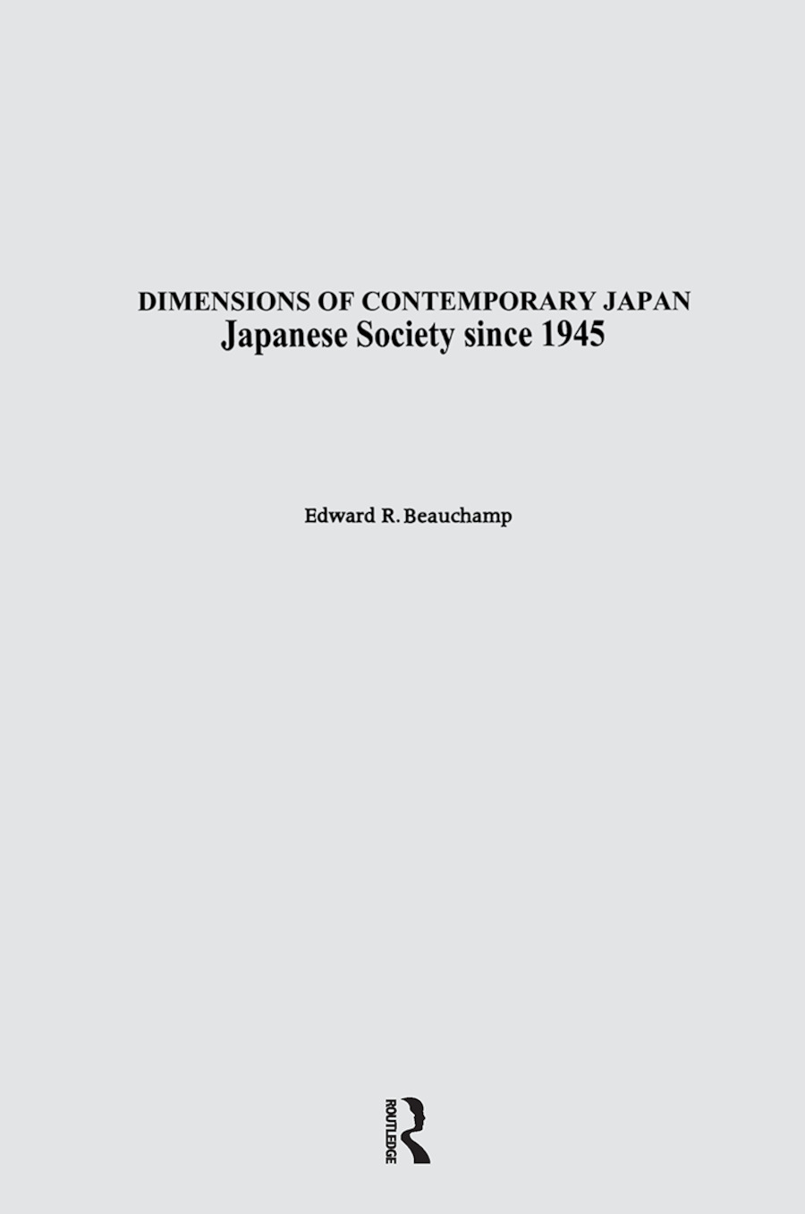 Japanese Society since 1945: 1st Edition (Hardback) book cover