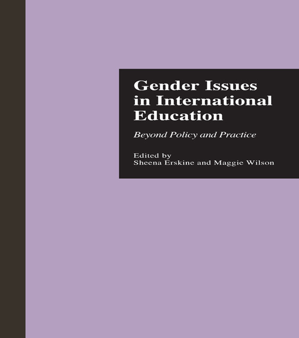 Gender Issues in International Education: Beyond Policy and Practice (e-Book) book cover
