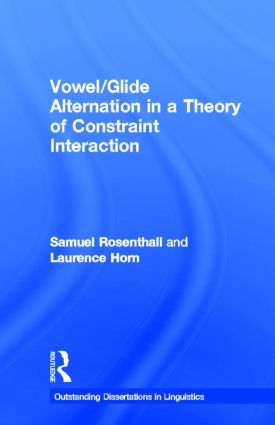 Vowel/Glide Alternation in a Theory of Constraint Interaction (Hardback) book cover