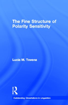 The Fine Structure of Polarity Sensitivity: 1st Edition (Paperback) book cover