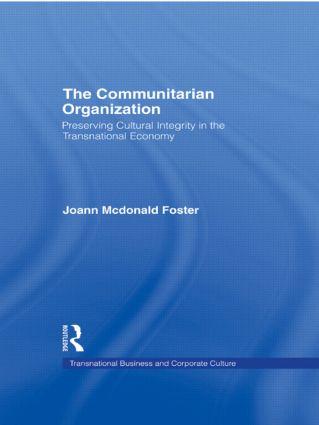 The Communitarian Organization