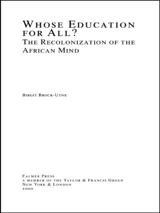 Whose Education For All?: The Recolonization of the African Mind (Hardback) book cover