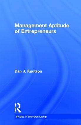 Management Aptitude of Entrepreneurs: 1st Edition (Paperback) book cover