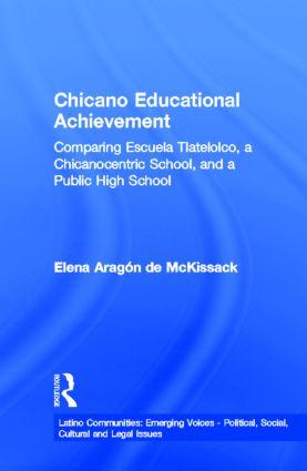 Chicano Educational Achievement: Comparing Escuela Tlatelolco, A Chicanocentric School, and a Public High School book cover