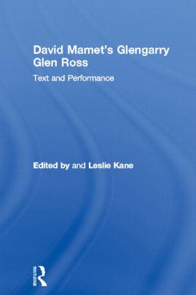 David Mamet's Glengarry Glen Ross: Text and Performance book cover