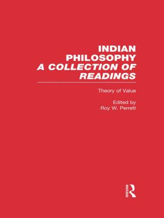 Theory of Value: Indian Philosophy (Hardback) book cover