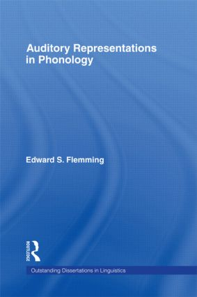 Auditory Representations in Phonology (Hardback) book cover