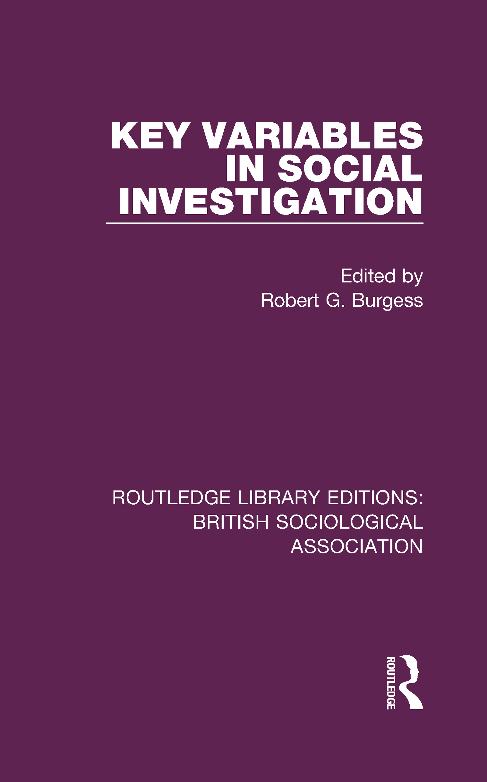 Key Variables in Social Investigation book cover