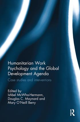 Humanitarian Work Psychology and the Global Development Agenda: Case studies and interventions book cover