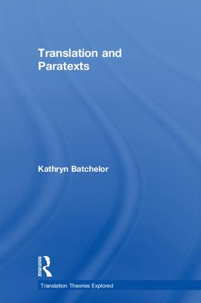 Paratexts in translation studies
