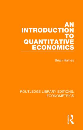 An Introduction to Quantitative Economics book cover