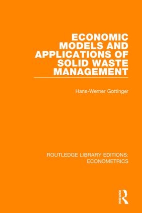 Economic Models and Applications of Solid Waste Management book cover