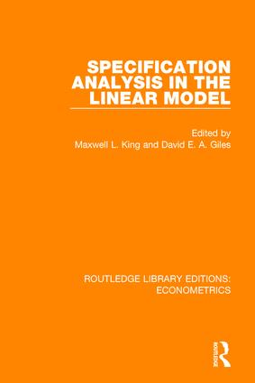 Specification Analysis in the Linear Model book cover