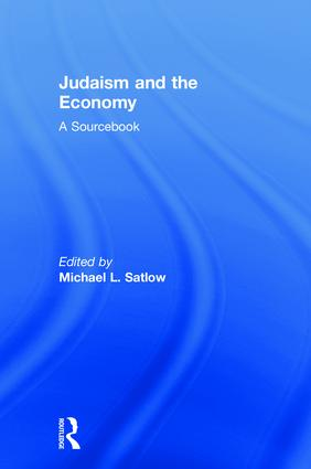Judaism and the Economy: A Sourcebook book cover