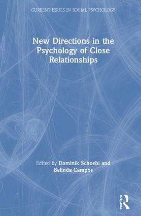New Directions in the Psychology of Close Relationships book cover