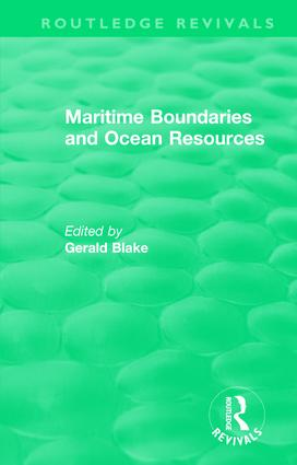 Routledge Revivals: Maritime Boundaries and Ocean Resources (1987): 1st Edition (Hardback) book cover