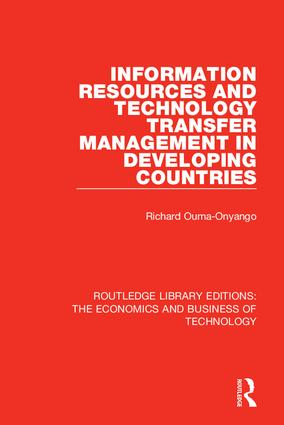 Information Resources and Technology Transfer Management in Developing Countries: 1st Edition (Hardback) book cover