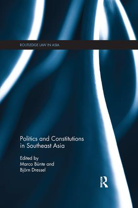 Politics and Constitutions in Southeast Asia: 1st Edition (Paperback) book cover