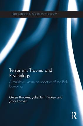 Terrorism, Trauma and Psychology: A multilevel victim perspective of the Bali bombings, 1st Edition (Paperback) book cover