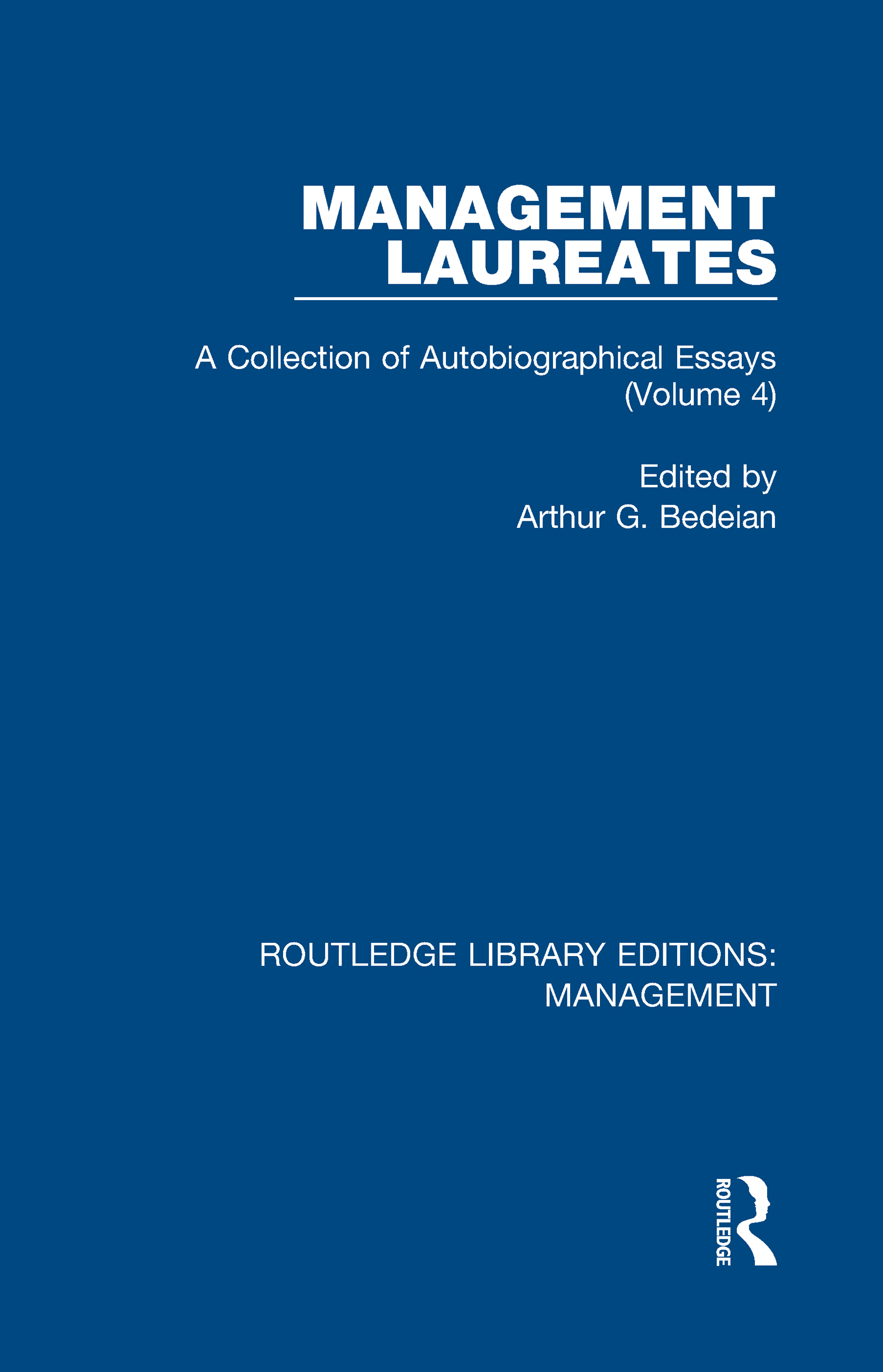 Management Laureates: A Collection of Autobiographical Essays (Volume 4) book cover