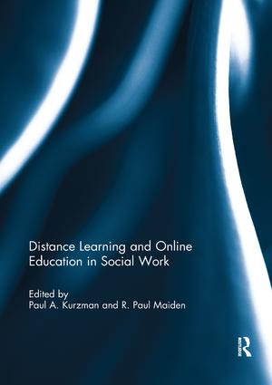 Distance Learning and Online Education in Social Work book cover