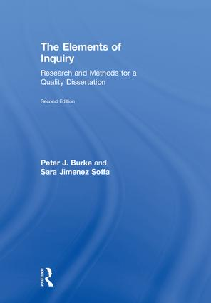 The Elements of Inquiry: Research and Methods for a Quality Dissertation, 2nd Edition (Hardback) book cover