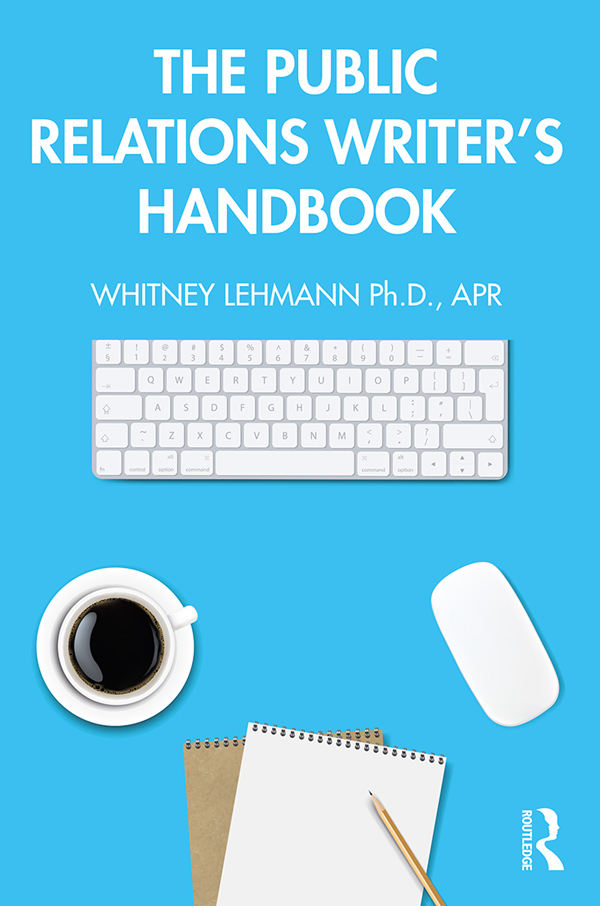 The Public Relations Writer's Handbook book cover