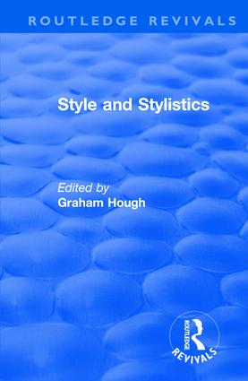 Routledge Revivals: Style and Stylistics (1969) book cover