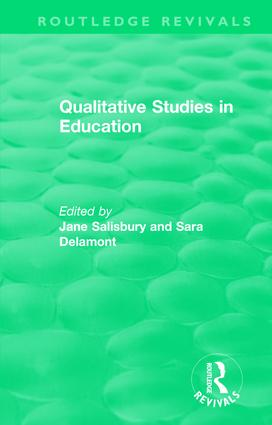 Qualitative Studies in Education (1995): 1st Edition (Hardback) book cover