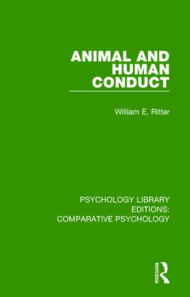 Animal and Human Conduct: 1st Edition (Hardback) book cover