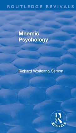 Revival: Mnemic Psychology (1923)