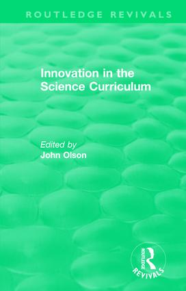 Innovation in the Science Curriculum book cover
