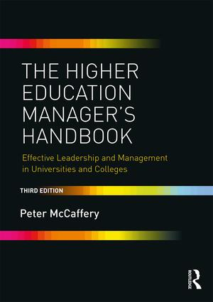 The Higher Education Manager's Handbook: Effective Leadership and Management in Universities and Colleges book cover