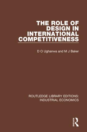 The Role of Design in International Competitiveness: 1st Edition (Hardback) book cover