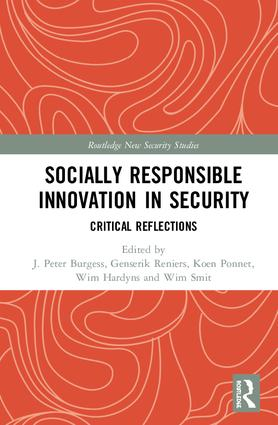 Socially Responsible Innovation in Security: Critical Reflections, 1st Edition (Hardback) book cover