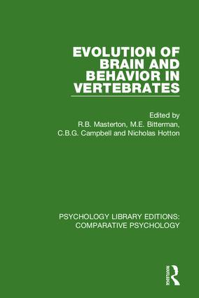 Evolution of Brain and Behavior in Vertebrates: 1st Edition (Hardback) book cover