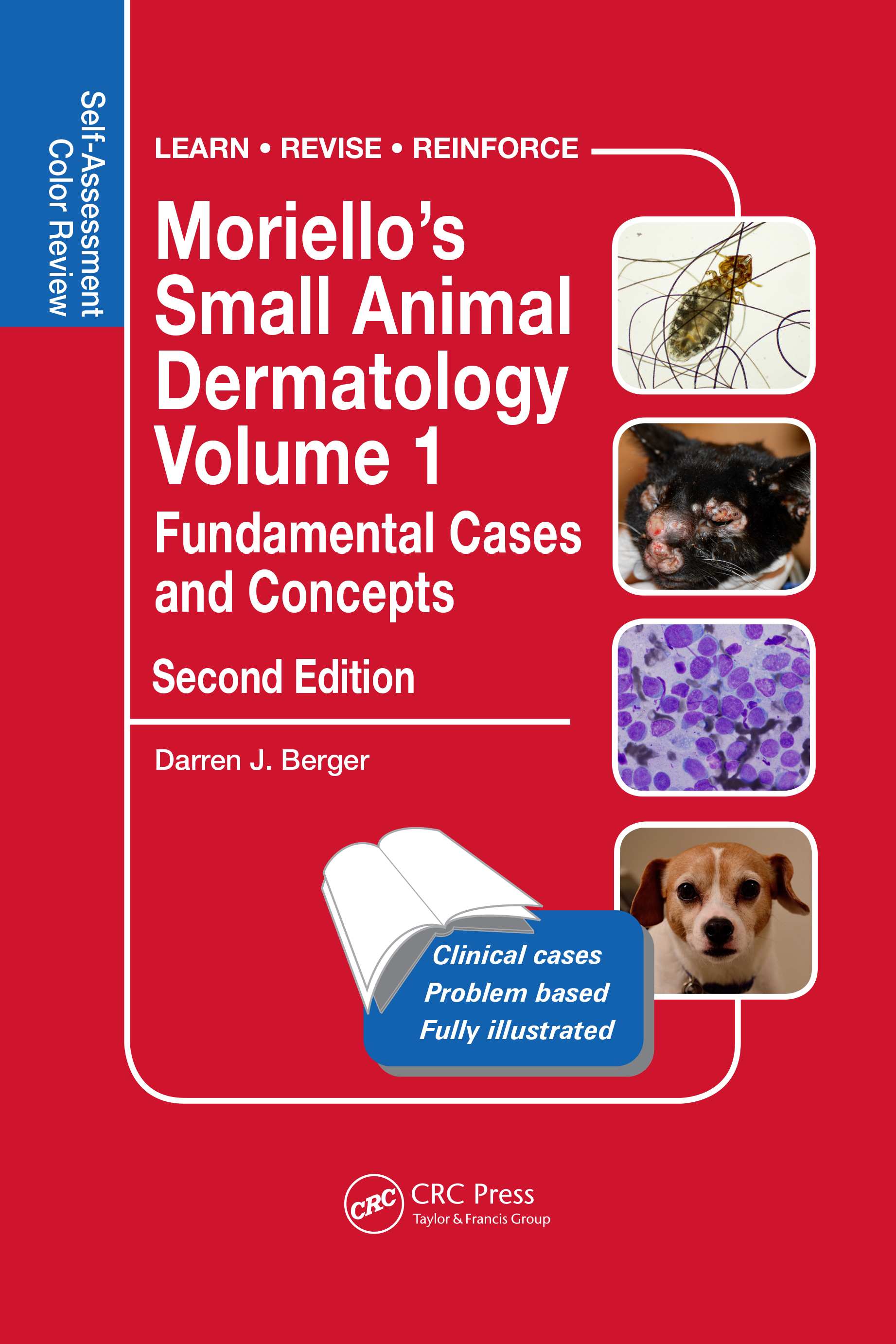 Moriello's Small Animal Dermatology, Fundamental Cases and Concepts: Self-Assessment Color Review, 2nd Edition (Paperback) book cover