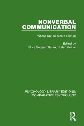 Nonverbal Communication: Where Nature Meets Culture, 1st Edition (Hardback) book cover