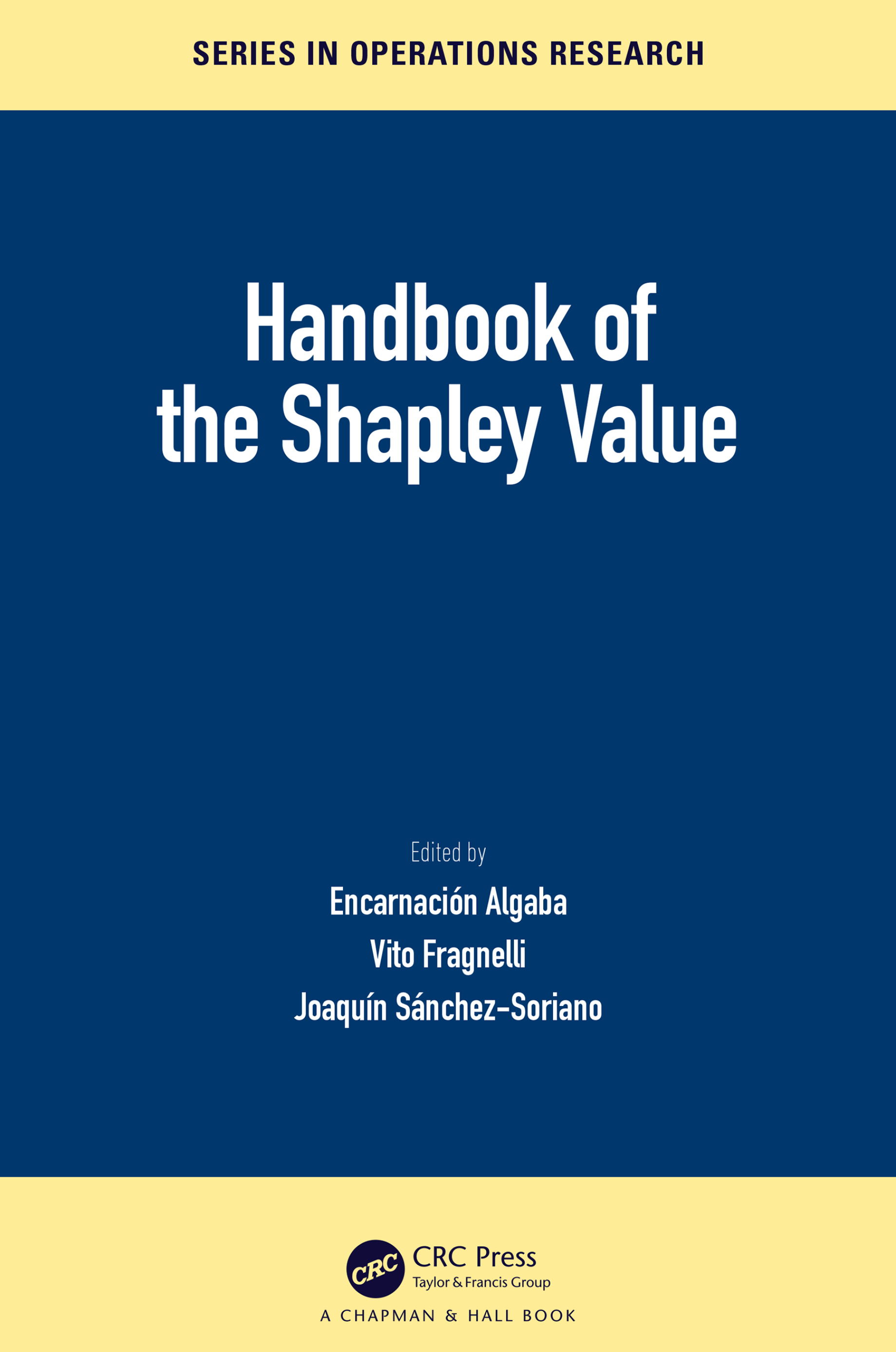 Handbook of the Shapley Value book cover