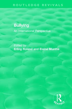 Bullying (1989): An International Perspective book cover