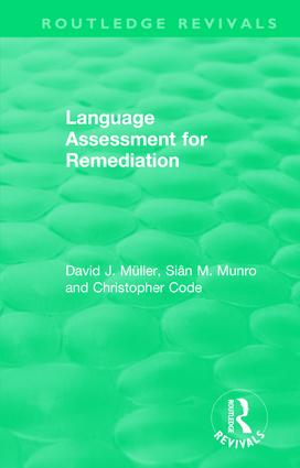 Language Assessment for Remediation (1981): 1st Edition (Hardback) book cover