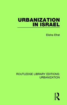 Urbanization in Israel book cover