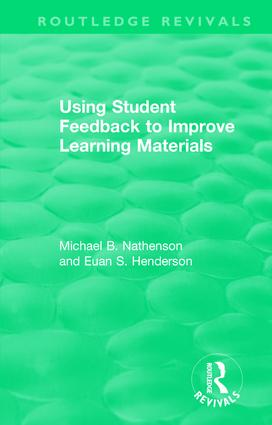 Using Student Feedback to Improve Learning Materials book cover
