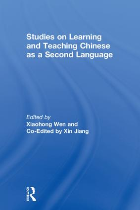 Studies on Learning and Teaching Chinese as a Second Language book cover