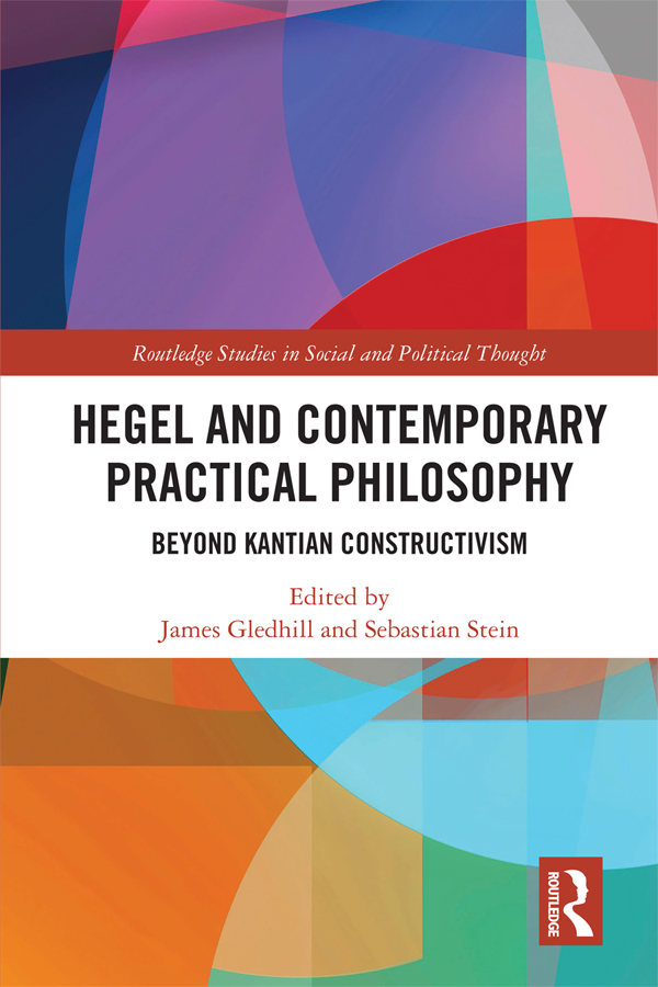Hegel and Contemporary Practical Philosophy: Beyond Kantian Constructivism book cover